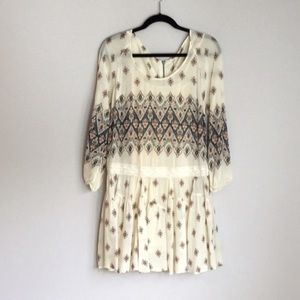 Free People Anthropologie Boho Floral Dress
